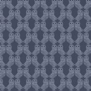 Lewis & Irene Enchanted Forest - 5101 - Owls in Midnight Blue  - A189.3 - Cotton Fabric